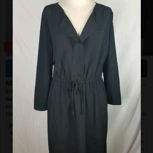 Black Merona Blouson Dress, Medium